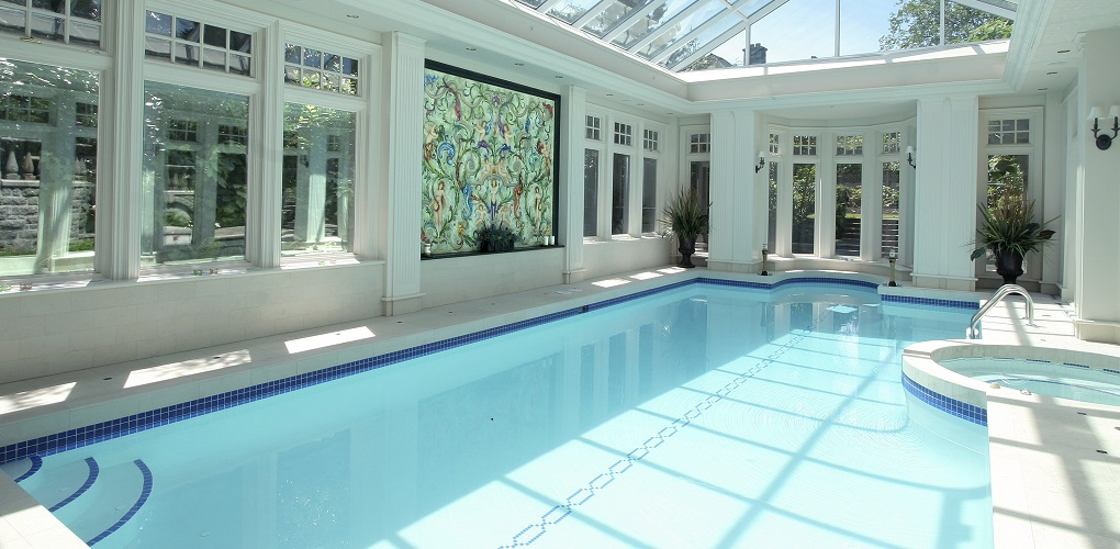 Pool with Skylights