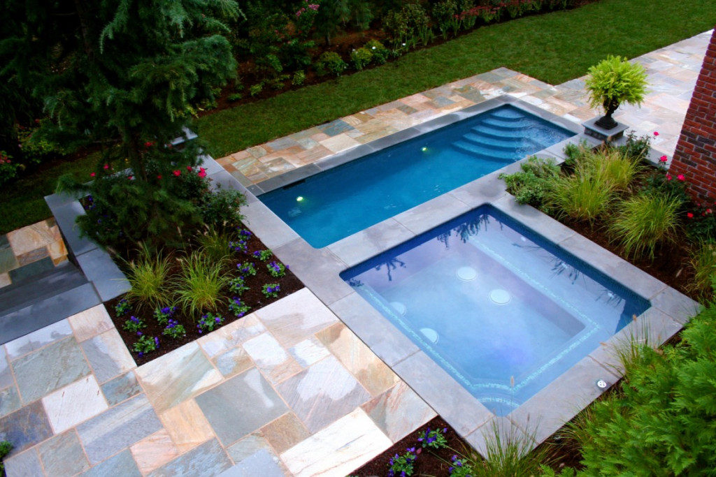 Pool with Multiple Alcoves