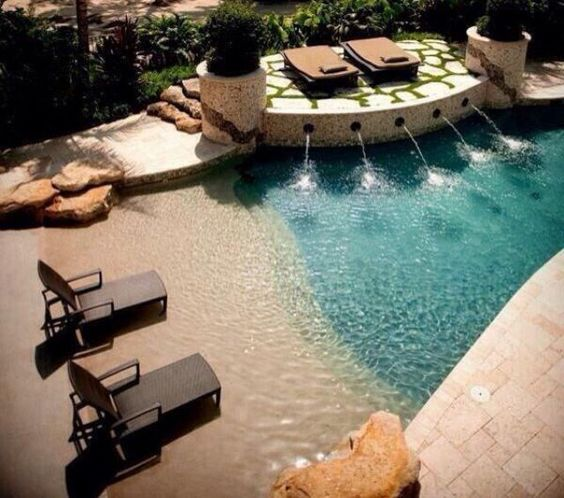 Beach Like Walk in Pool