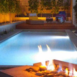 fire swimming pool designs