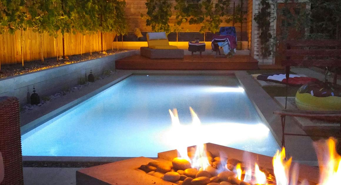 spa influence backyard pool design
