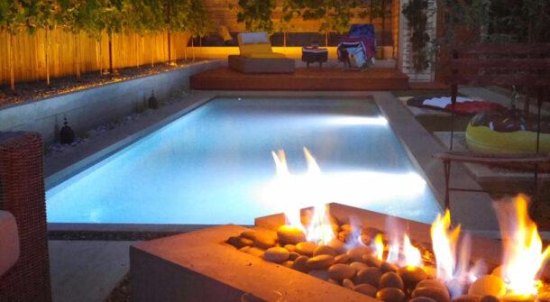fire swimming pool